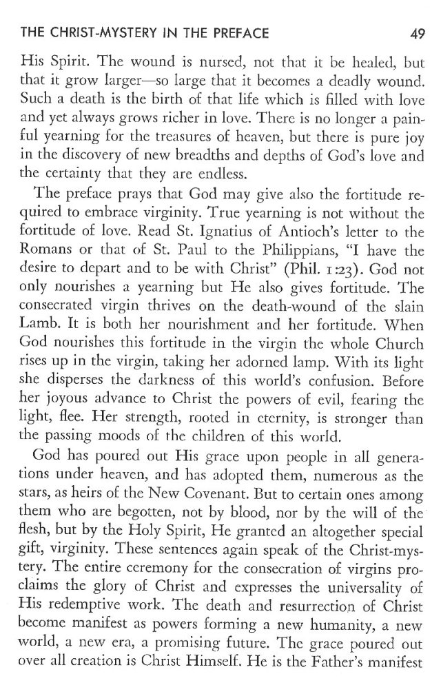 Christ in His Consecrated Virgins - Christ-Mystery in Preface 9