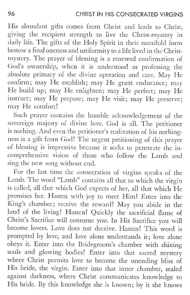 Christ in His Consecrated Virgins - Concluding Prayers 5