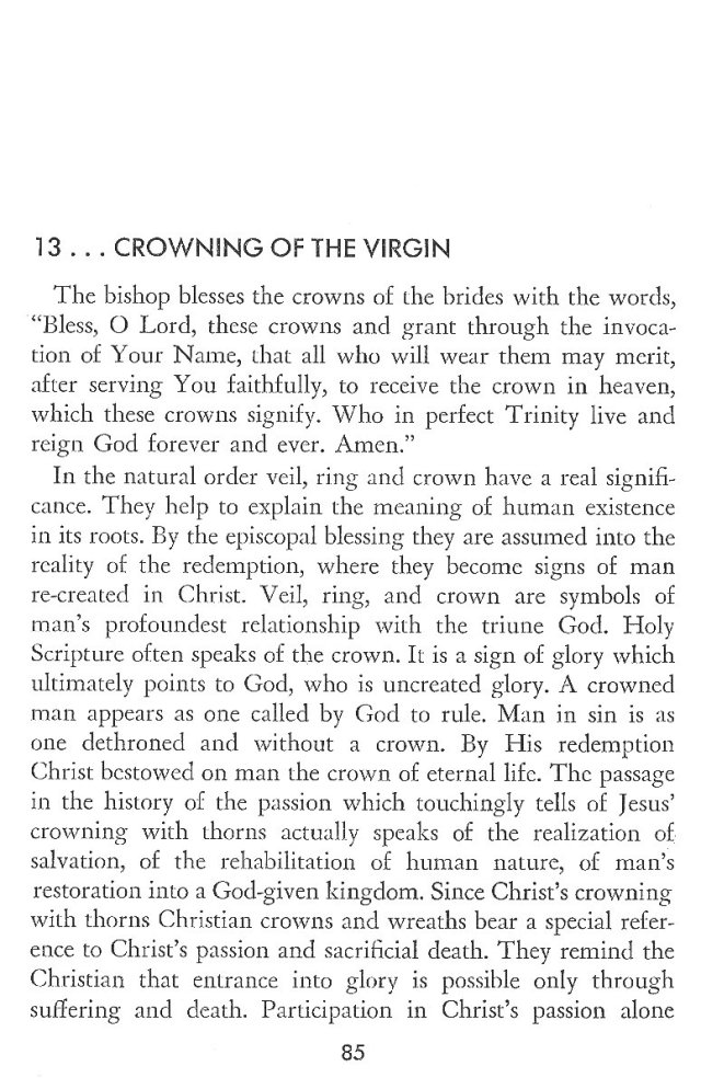 Christ in His Consecrated Virgins - Crowning of Virgin 1