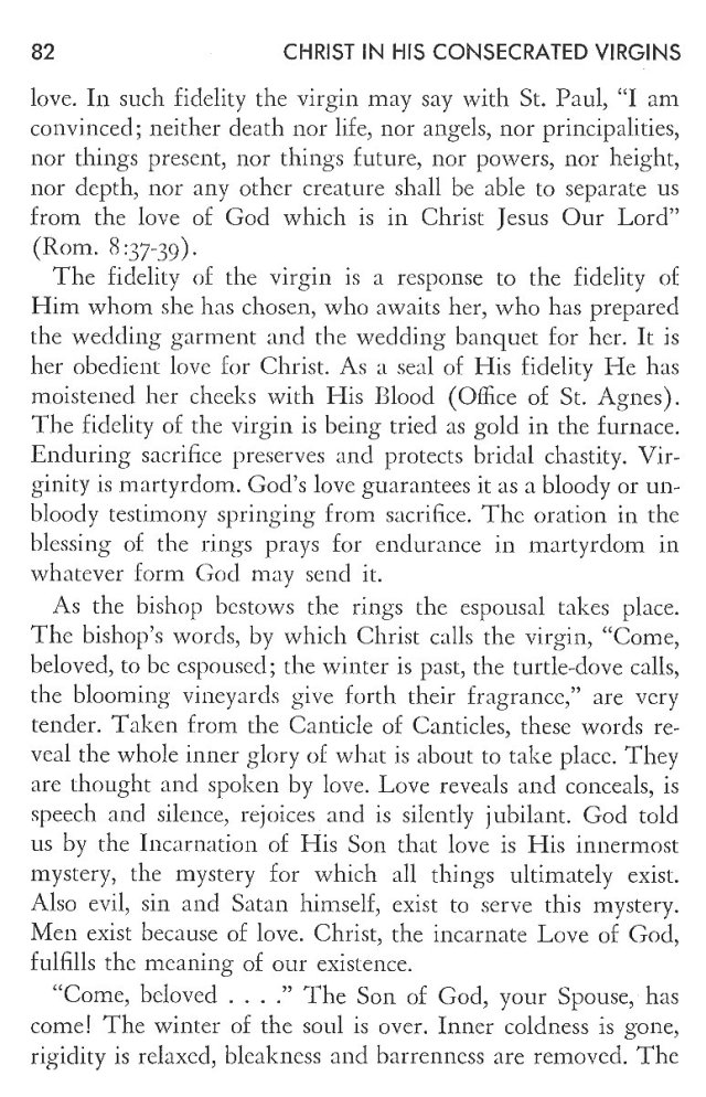 Christ in His Consecrated Virgins - Espousal of Virgin 2