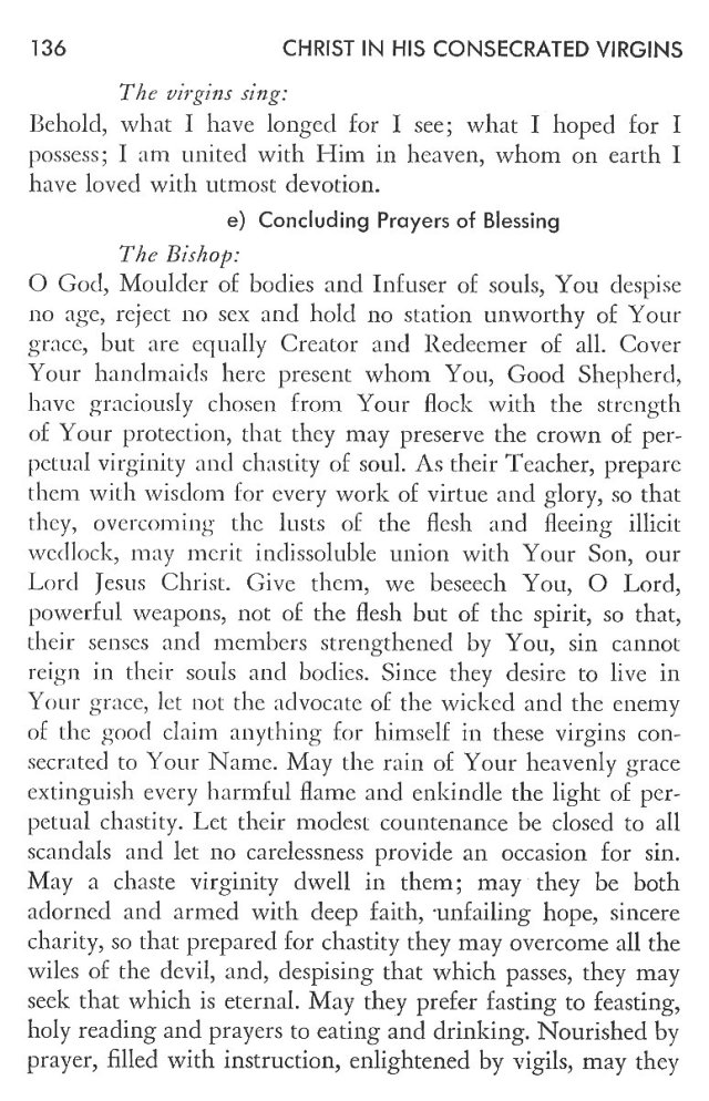 Christ in His Consecrated Virgins - Pontifical Consecration of Virgins 12
