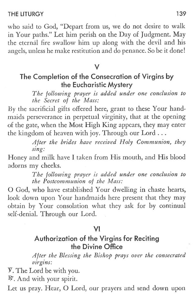 Christ in His Consecrated Virgins - Pontifical Consecration of Virgins 15