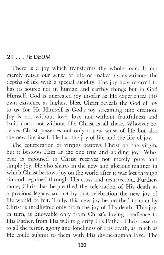 Christ in His Consecrated Virgins - Te Deum 1