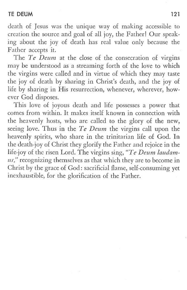 Christ in His Consecrated Virgins - Te Deum 2