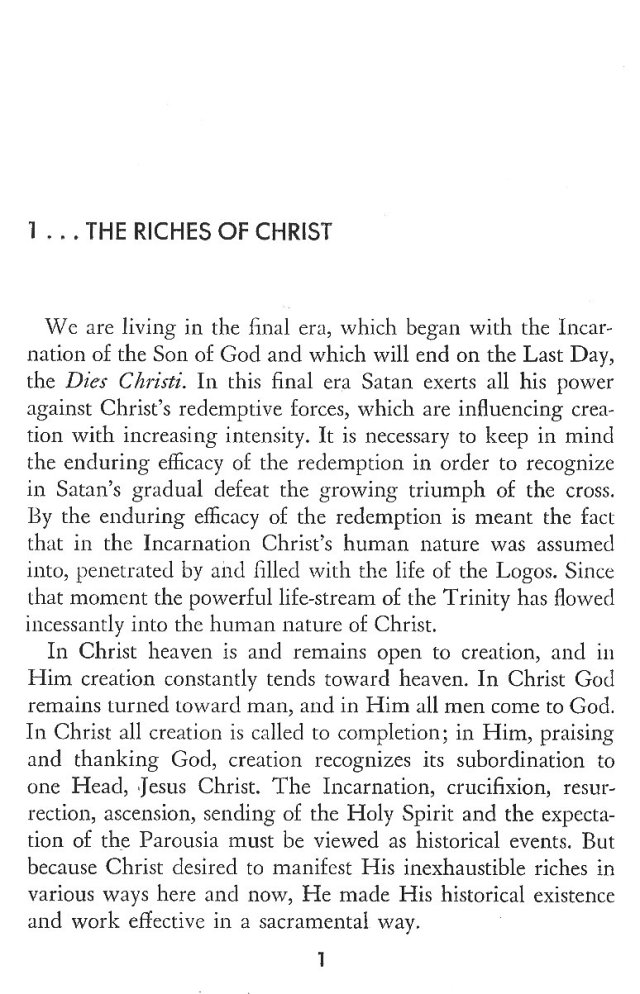 Christ in His Consecrated Virgins - The Riches of Christ 1