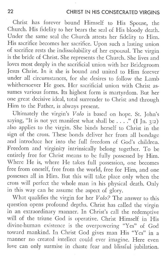 Christ in His Consecrated Virgins - Virgin's Pledge 2