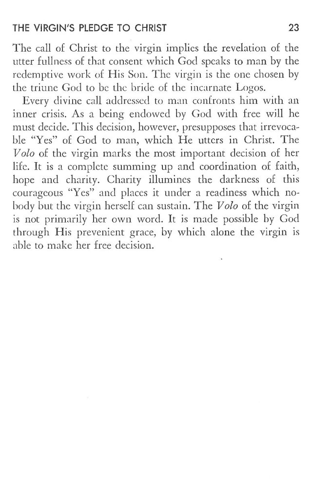 Christ in His Consecrated Virgins - Virgin's Pledge 3