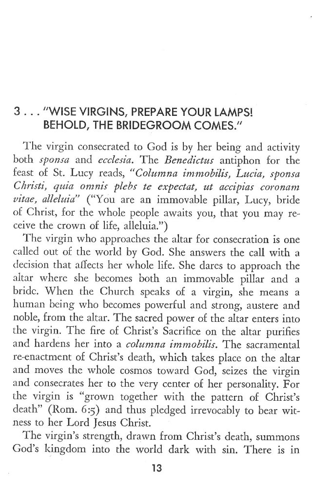 Christ in His Consecrated Virgins - Wise Virgins 1