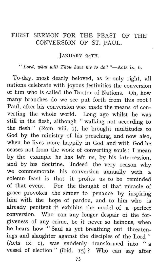 First Sermon Conversion St. Paul 1