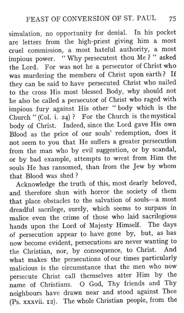 First Sermon Conversion St. Paul 3