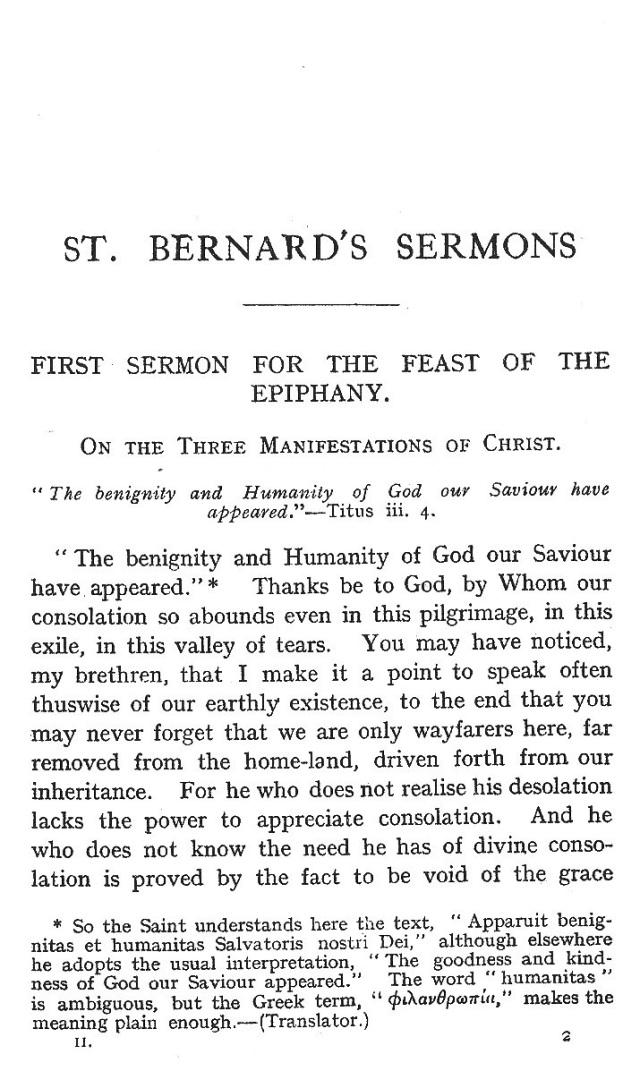 First Sermon Epiphany 1