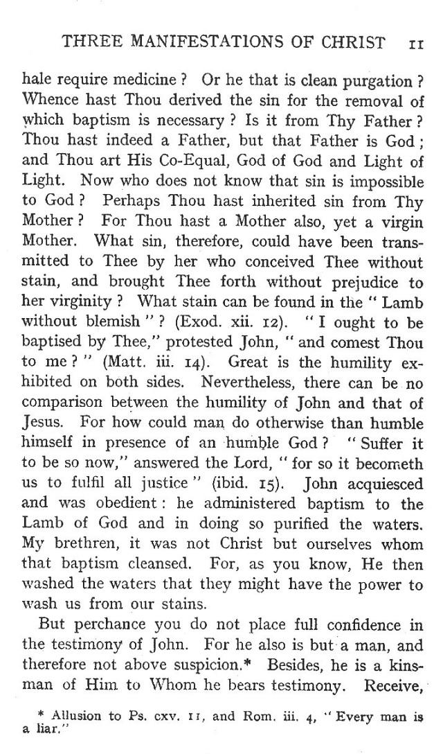 First Sermon Epiphany 11