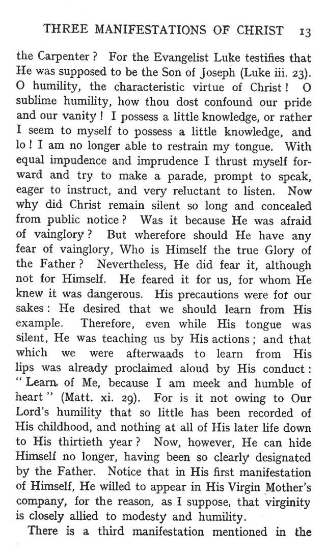 First Sermon Epiphany 13