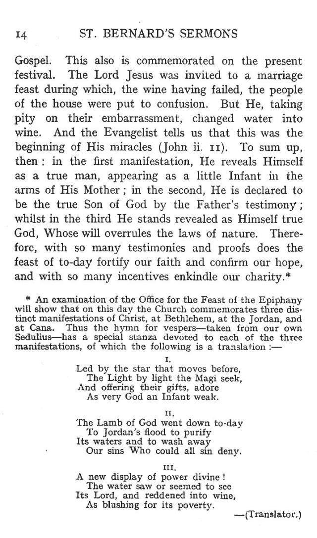First Sermon Epiphany 14