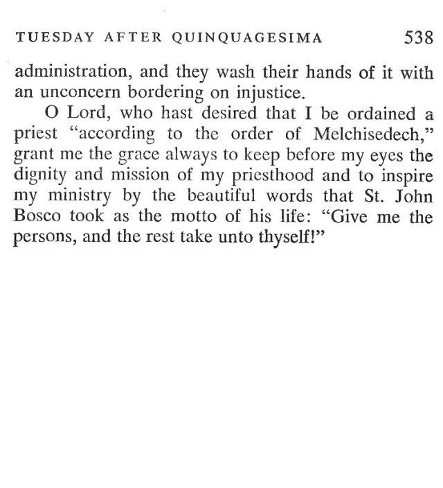 Quinquagesima Tuesday Breviary Meditations 7