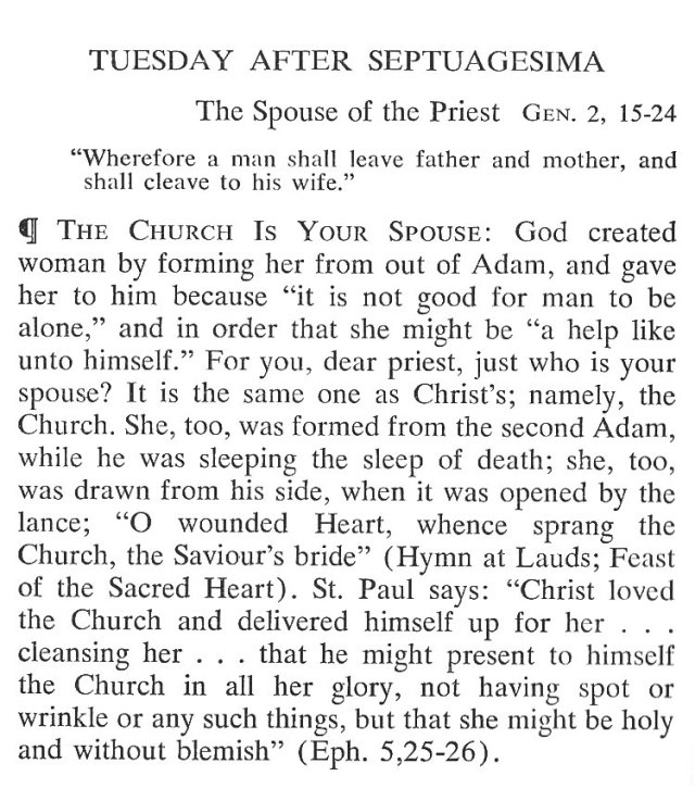 Septuagesima Tuesday Breviary Meditations 1