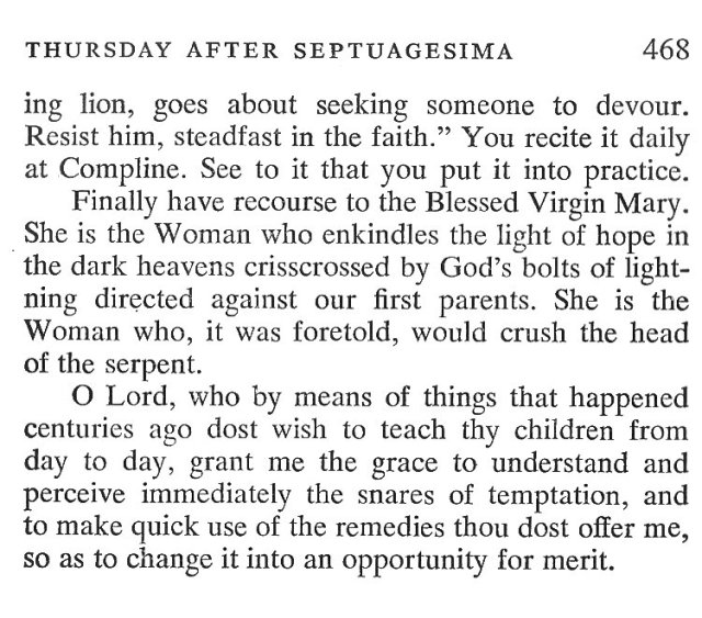 Septuagesima Wednesday Breviary Meditations 6