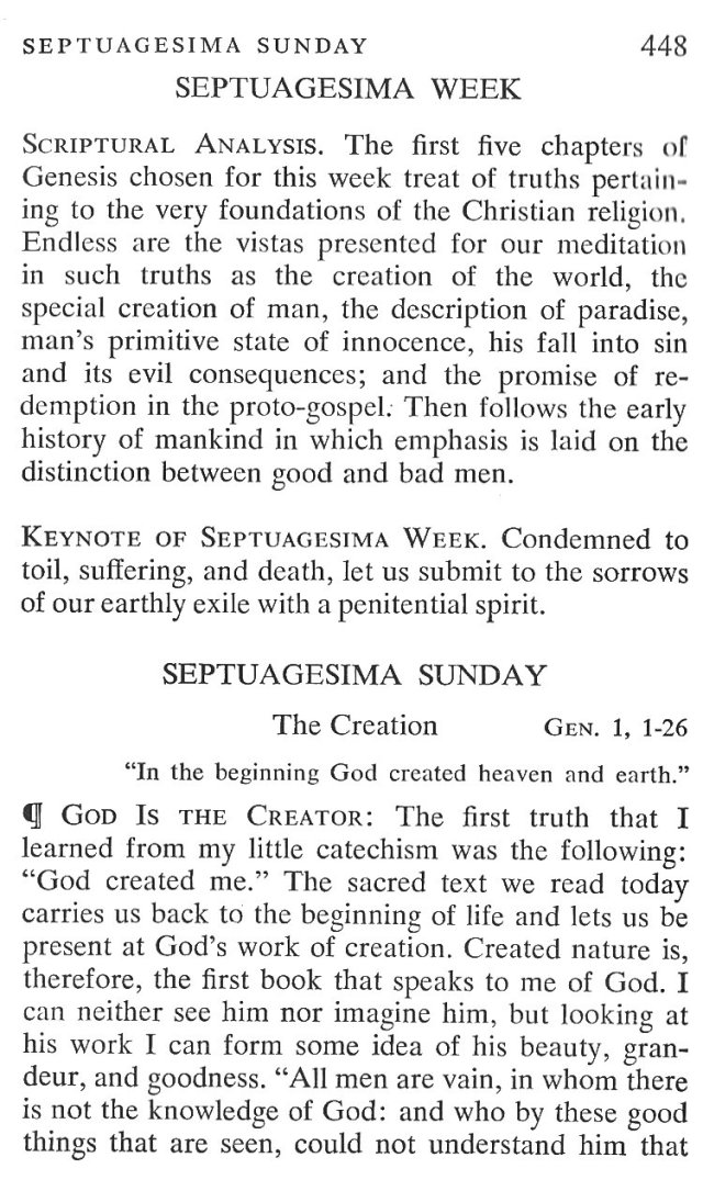 Septugesima Sunday Breviary Meditations 1