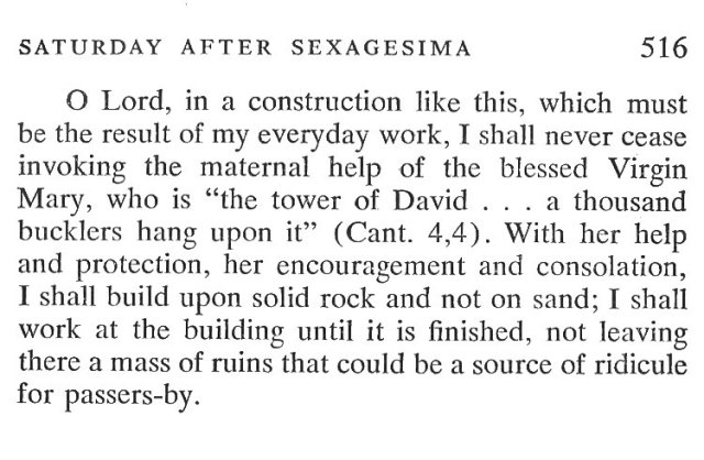 Sexagesima Friday Breviary Meditations 6