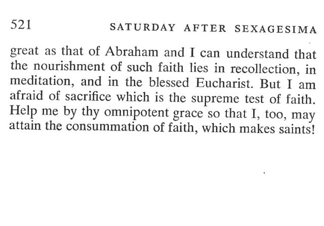 Sexagesima Saturday Breviary Meditations 6