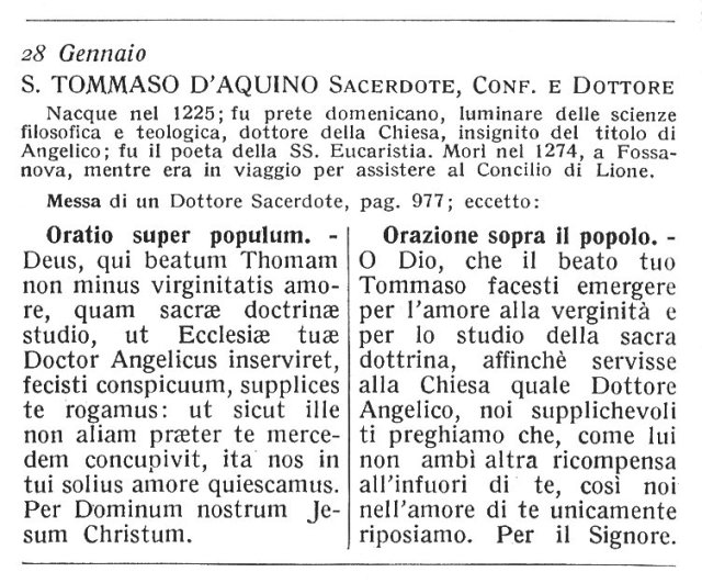 St. Thomas Aquinas - Ambrosian Missal
