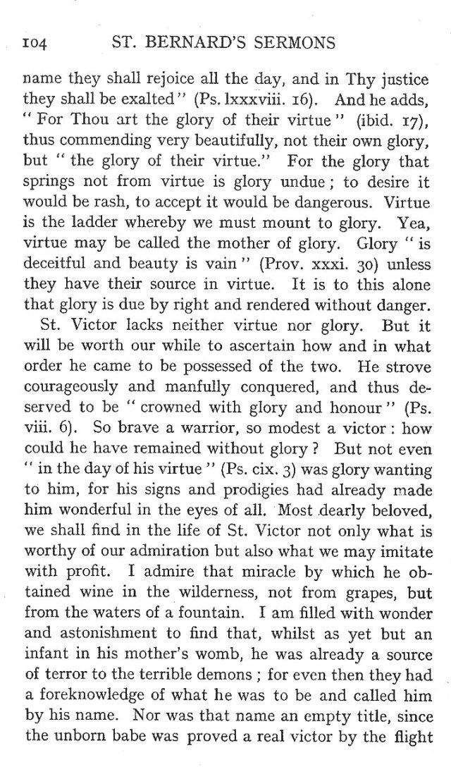 First Sermon St. Victor 2