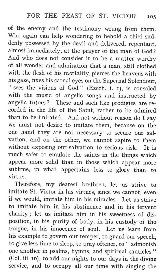 First Sermon St. Victor 3