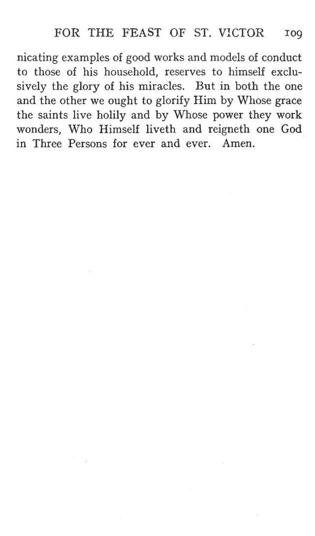 First Sermon St. Victor 7