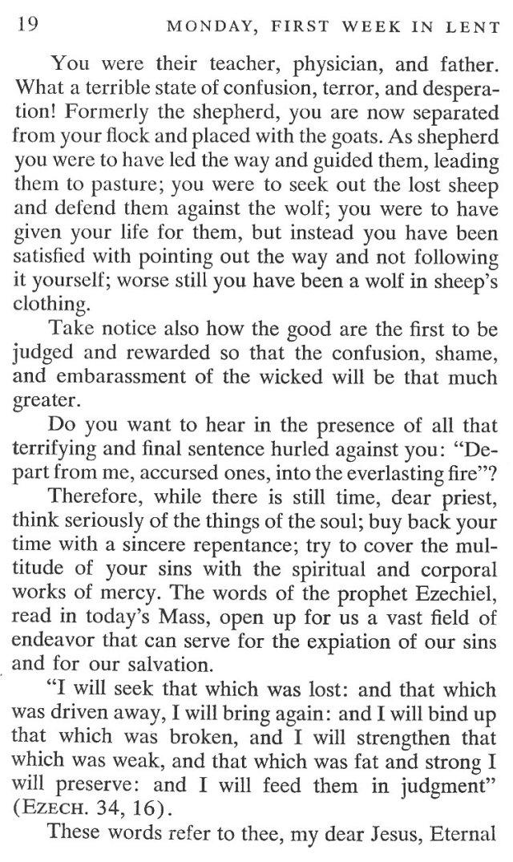 First Week Monday Lent Meditation 6