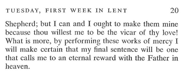 First Week Monday Lent Meditation 7