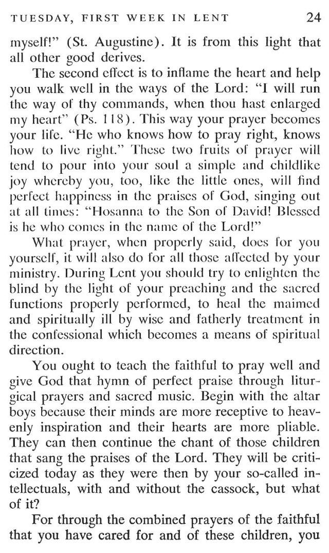 First Week Tuesday Lent Meditation 5