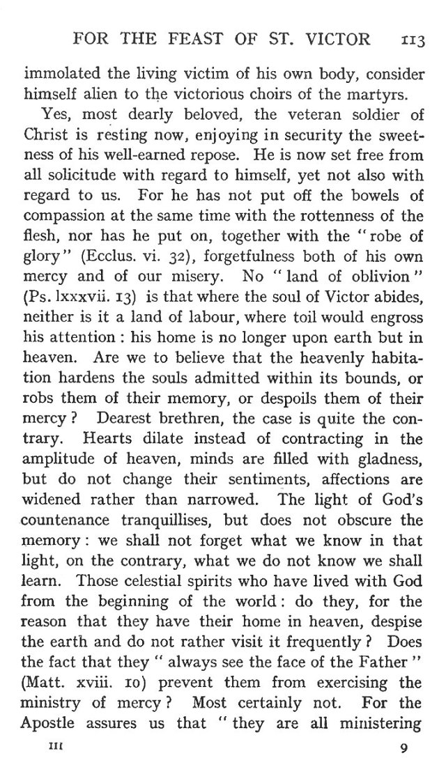 Second Sermon St. Victor 4