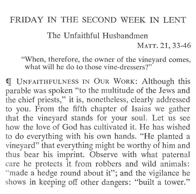 Second Week Friday Lent Meditation 1
