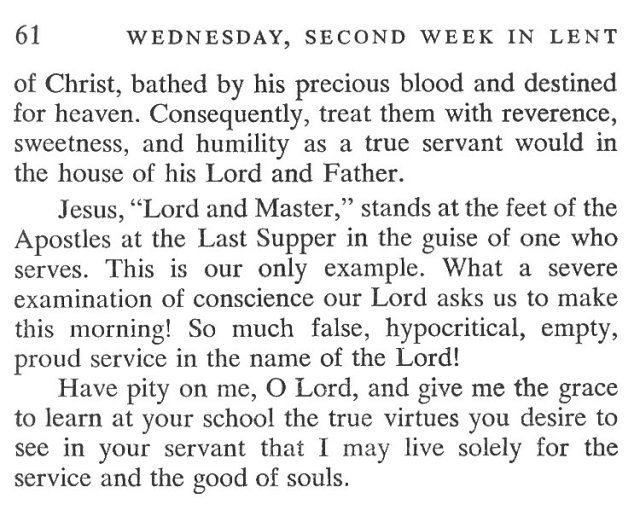 Second Week Tuesday Lent Meditation 6