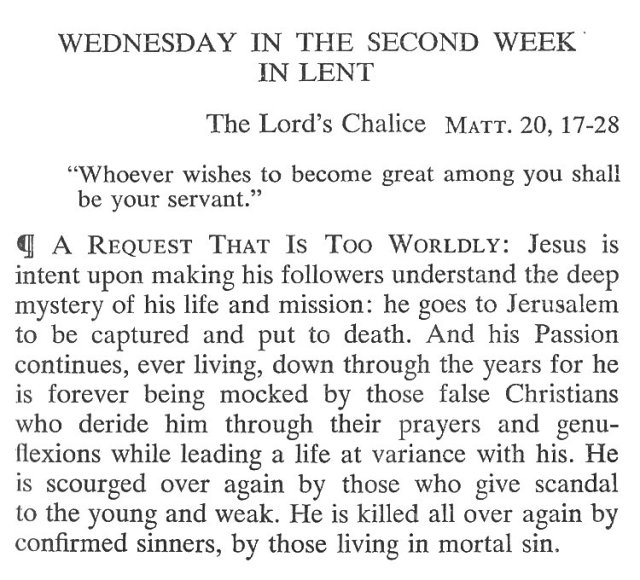 Second Week Wednesday Lent Meditation 1