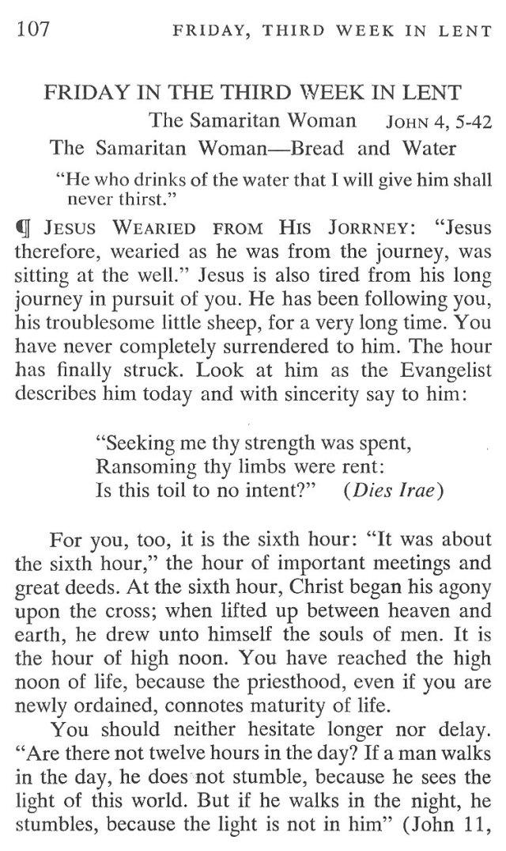 Third Week Friday Lent Meditation 1