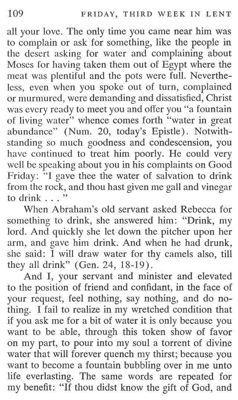 Third Week Friday Lent Meditation 3