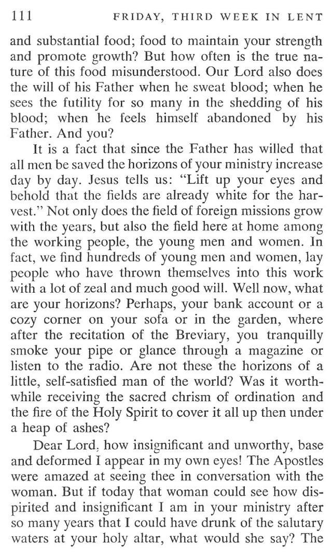 Third Week Friday Lent Meditation 5