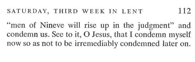 Third Week Friday Lent Meditation 6