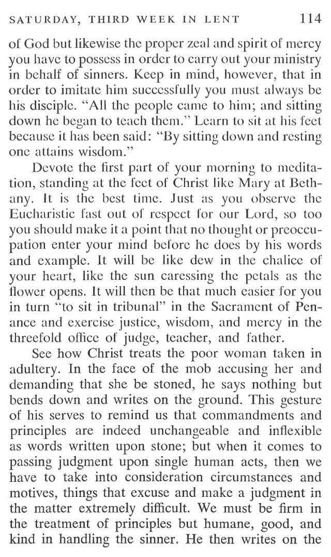 Third Week Saturday Lent Meditation 3