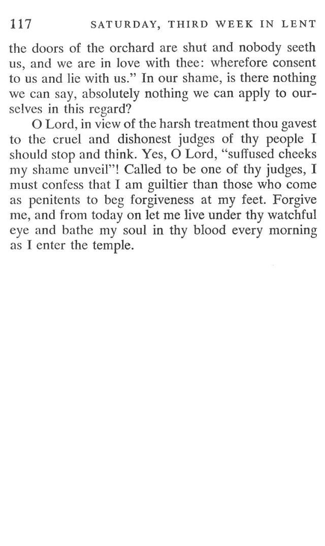 Third Week Saturday Lent Meditation 6