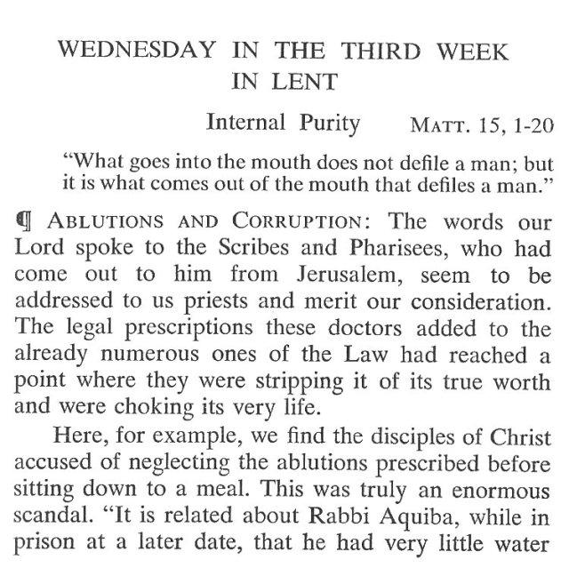 Third Week Wednesday Lent Meditation 1