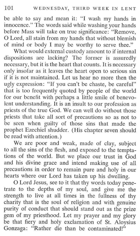 Third Week Wednesday Lent Meditation 5