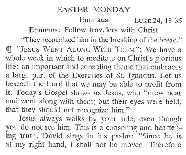 Easter Monday Breviary Meditation 1