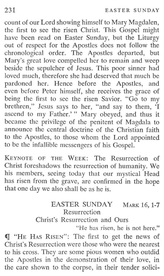 Easter Sunday Breviary Meditation 2