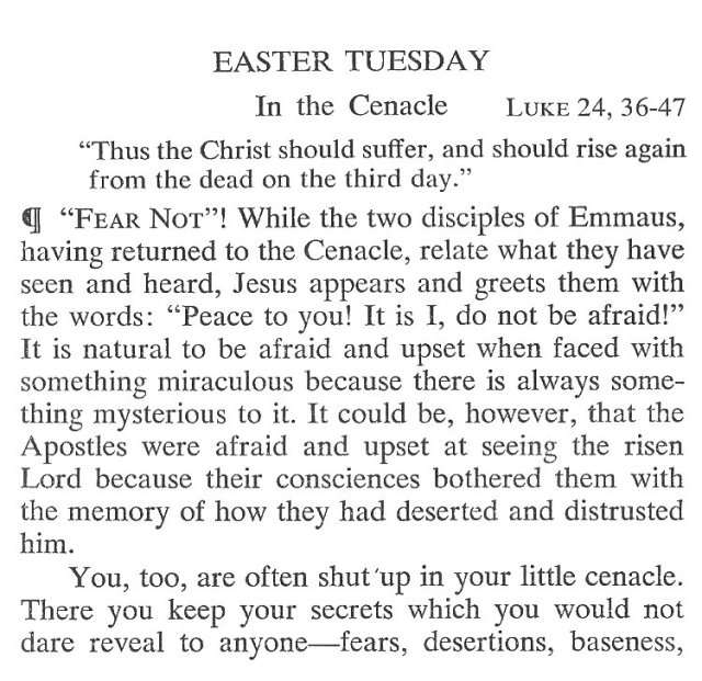 Easter Tuesday Breviary Meditation 1