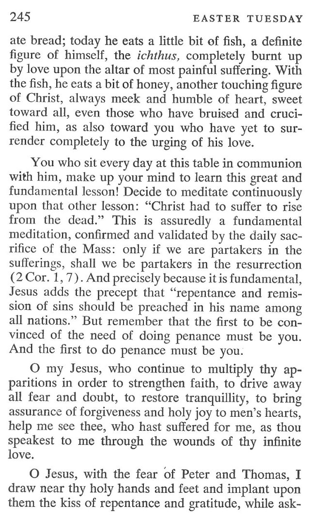 Easter Tuesday Breviary Meditation 5