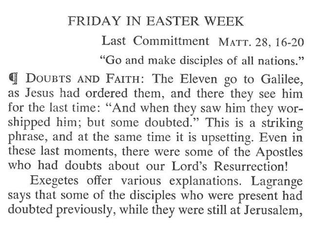 Easter Week Friday Breviary Meditation 1