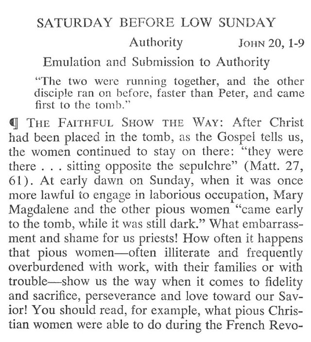 Easter Week Saturday Breviary Meditation 1