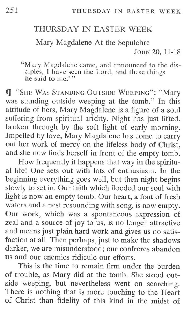 Easter Week Thursday Breviary Meditation 1